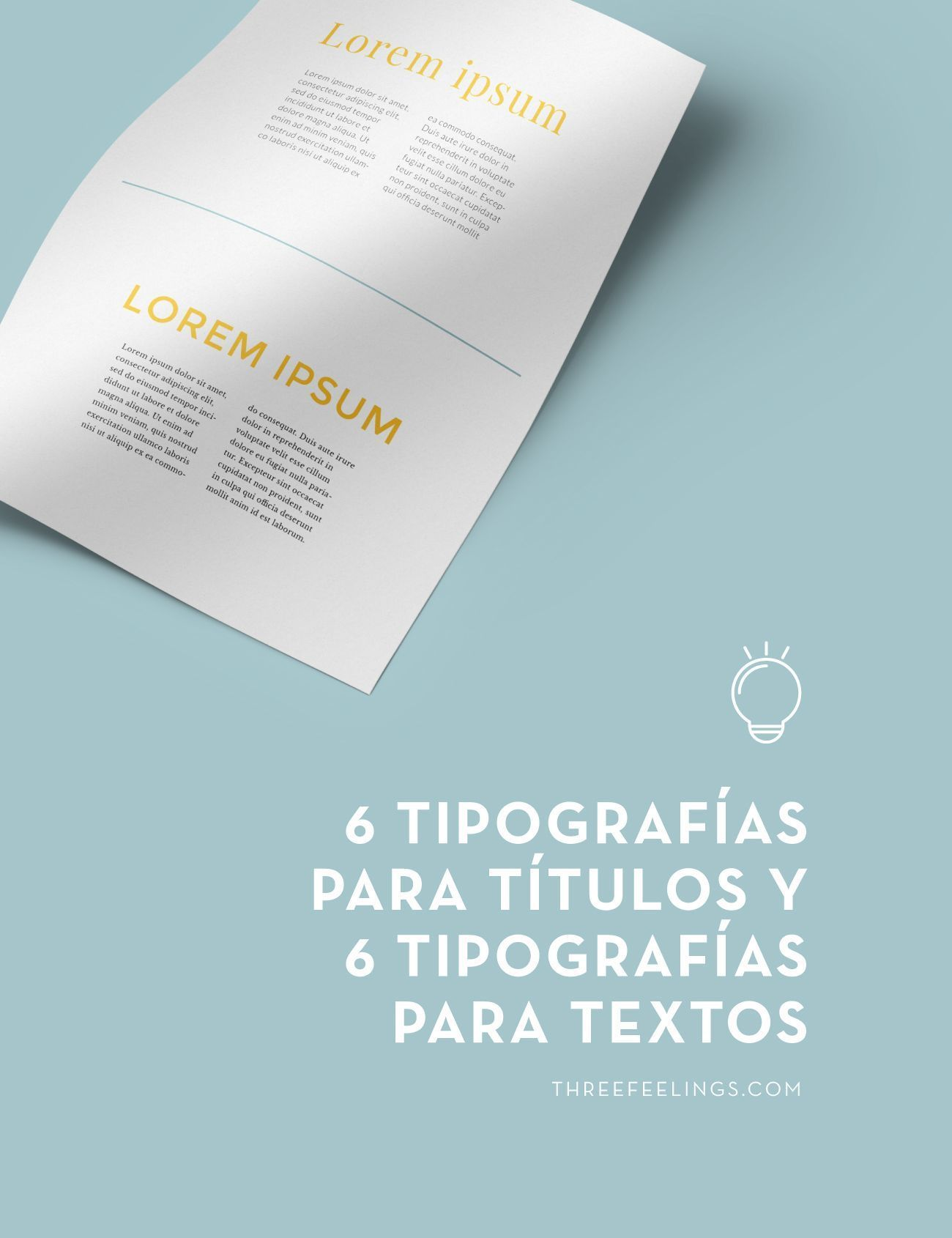 6 Tipografías Para Títulos Y 6 Tipografías Para Textos