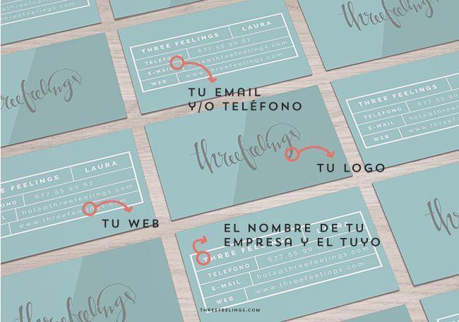 elementos que debe tener una tarjeta de visita three feelings