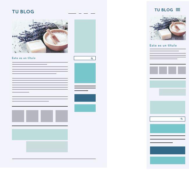 diseño web responsive blog