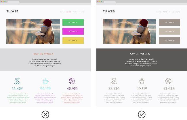 colores de cajas que debe tener tu web