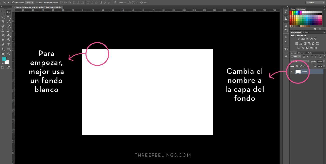 Aplicar texturas a textos - capas
