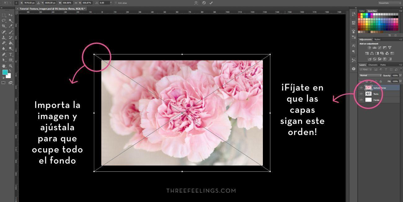 Aplicar texturas a textos - uso de imagen